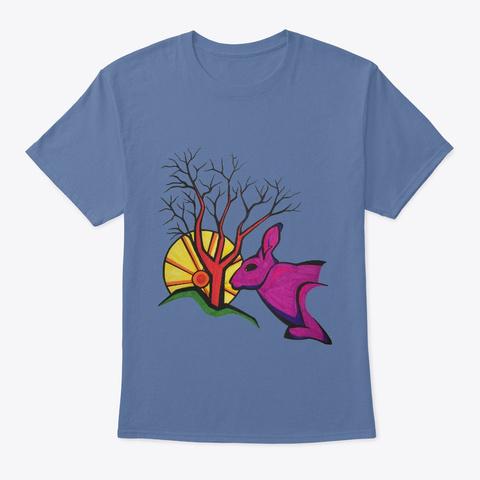 Sunset Denim Blue T-Shirt Front