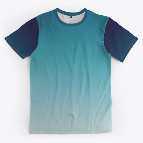 Blue Ocean Abstract Color Gradient Standard T-Shirt Front