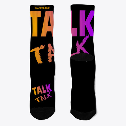 Real Talk Talk Black T-Shirt Front