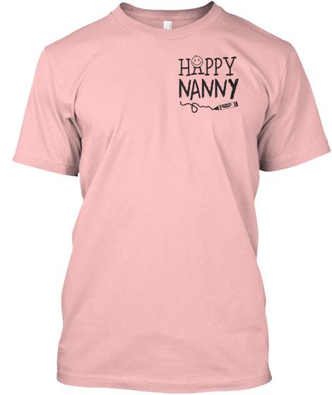 Happy Nanny Pale Pink T-Shirt Front