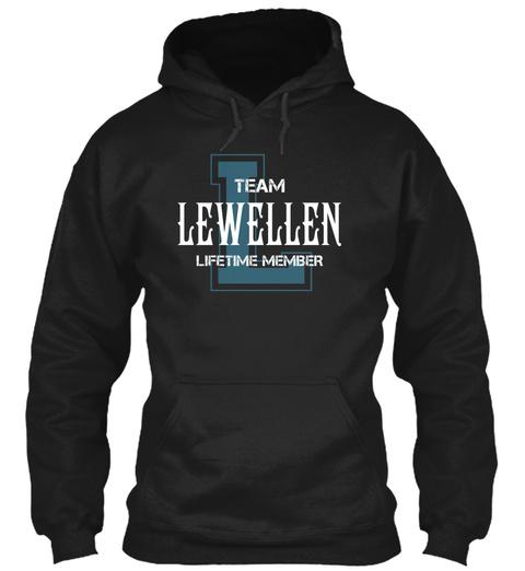 Team Lewellen   Name Shirts Black T-Shirt Front