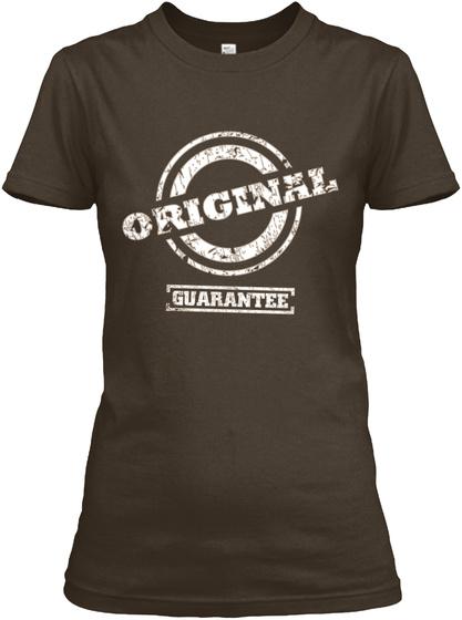 Original Guarantee  Dark Chocolate T-Shirt Front