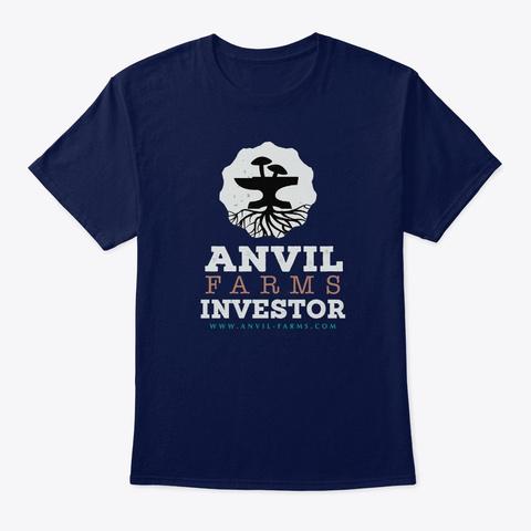 Anvil Farms Investor Dk Navy T-Shirt Front