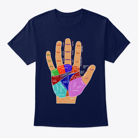 Hand Map Tops Navy T-Shirt Front