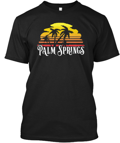 Palm Springs Black T-Shirt Front