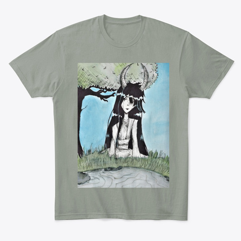 Tranquil By The Pond Grey T-Shirt Front