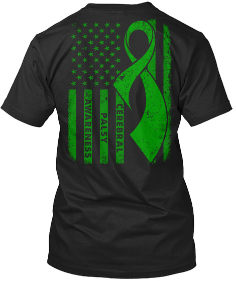 Cerebral Palsy Awareness  Black T-Shirt Back