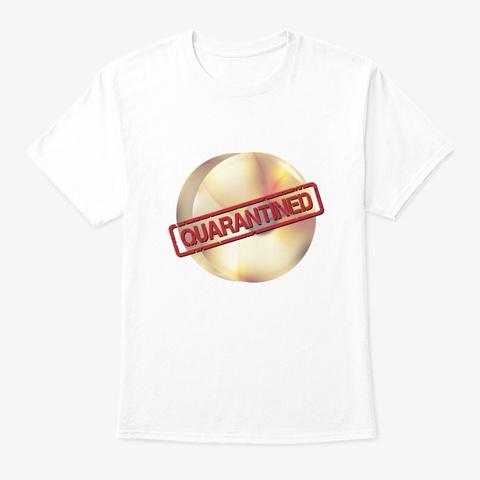 Band/Guard   Quarantined   Cymbals White T-Shirt Front