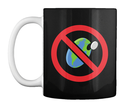 Flat Earth Is Bs Mug [Usa] #Sfsf Black Mug Front
