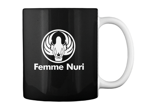 Femme Nuri Black Mug Back