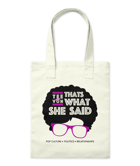 Twss Swag! Natural Tote Bag Front