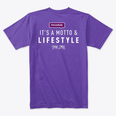 #Itscoolbaby Purple Rush T-Shirt Back