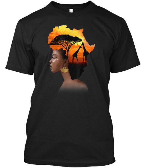 Dashiki Black History Month 2020 Tshirt Black T-Shirt Front