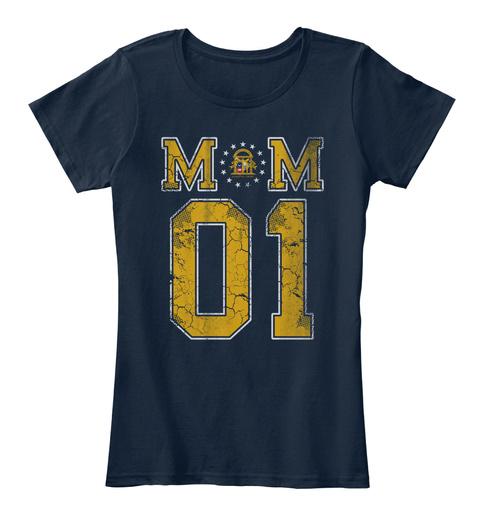 Georgia Mom #1 Shirt New Navy T-Shirt Front