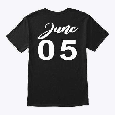 June 5   Gemini Black T-Shirt Back