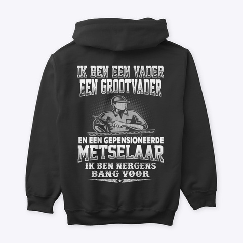 Metselaar Black T-Shirt Back