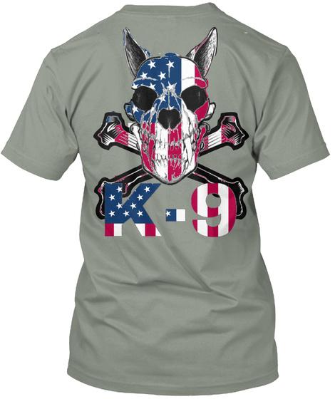 K 9 Grey T-Shirt Back