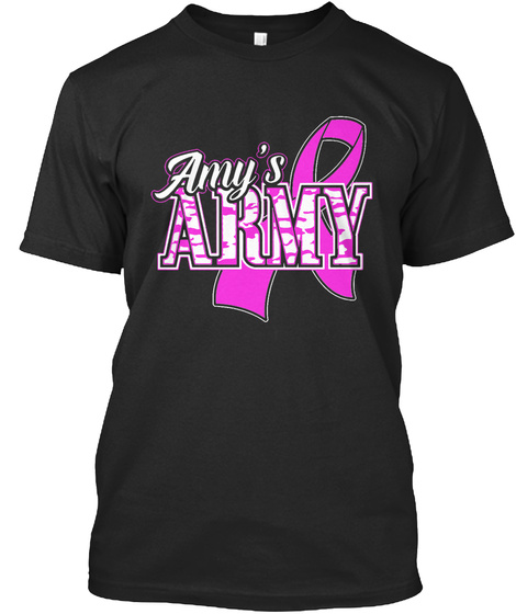 Amy Army   Adult T Shirt Black T-Shirt Front