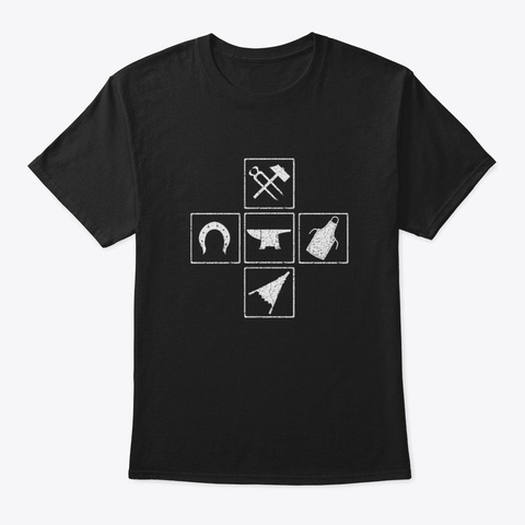 Farrier Tools Black T-Shirt Front