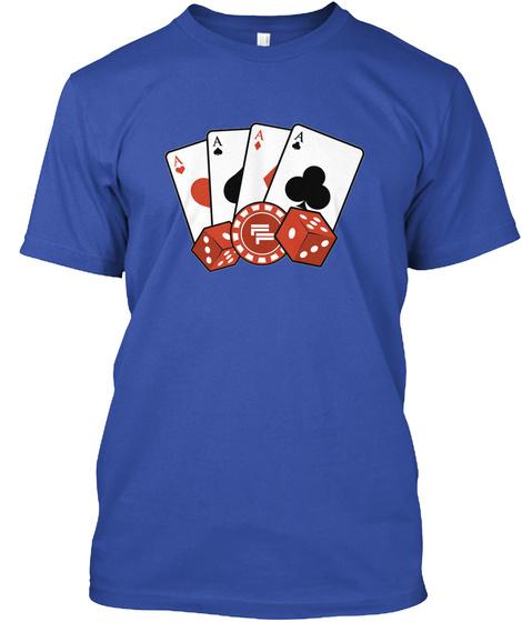 Full Flight Aces Tee   Blue True Royal T-Shirt Front