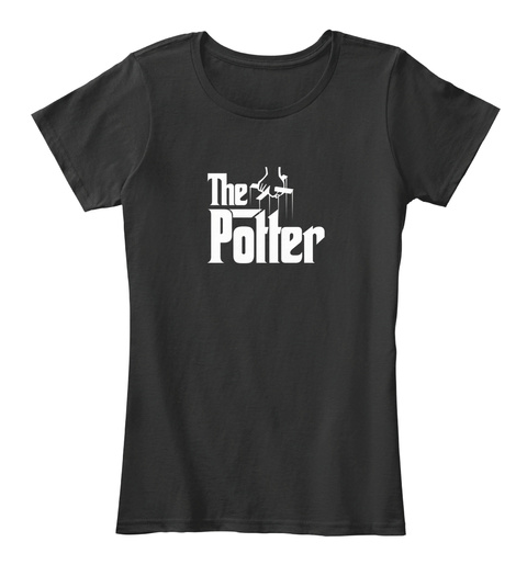 The Potter Black T-Shirt Front