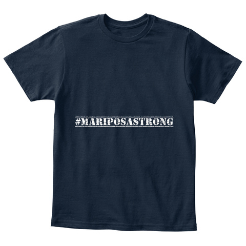 #Mariposastrong New Navy T-Shirt Front