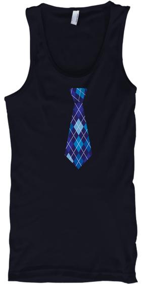 Tie Tank Top Navy T-Shirt Front