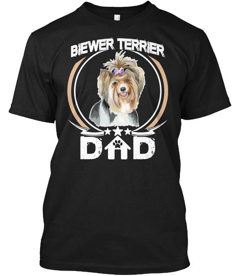 Biewer Terrier Dad Black T-Shirt Front