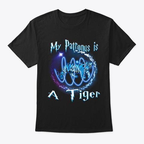 My Patronus Is A Tiger Halloween Black T-Shirt Front