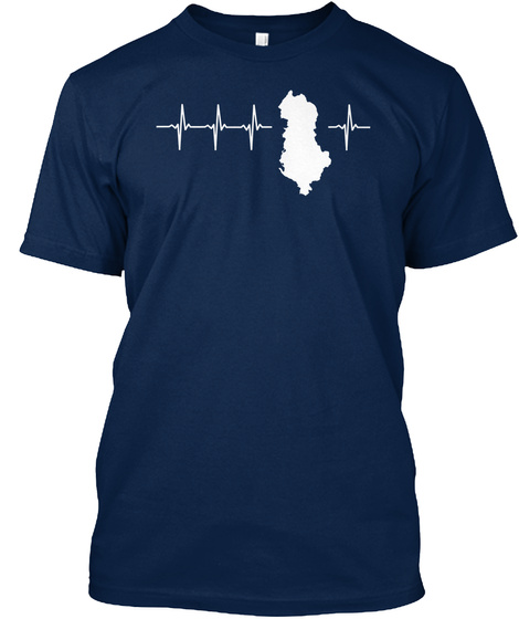 Albania Holiday Gift Navy T-Shirt Front