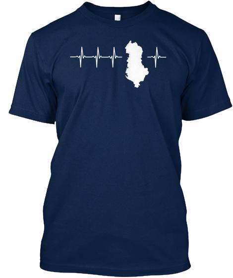 Albania Holiday Gift Navy T-Shirt Front
