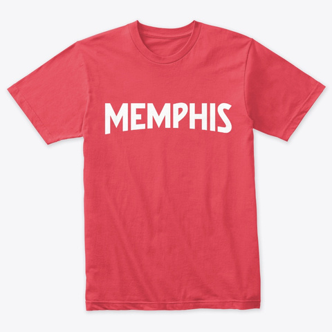 Memphis Tee Vintage Red T-Shirt Front