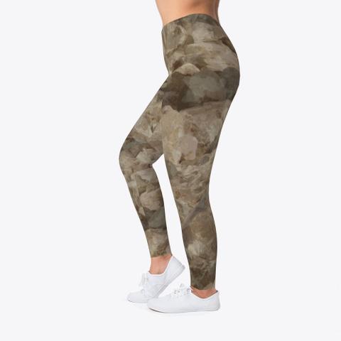 Desert Camo Leggings Standard T-Shirt Left