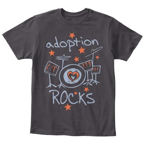 Adoption Rocks Heathered Charcoal  T-Shirt Front