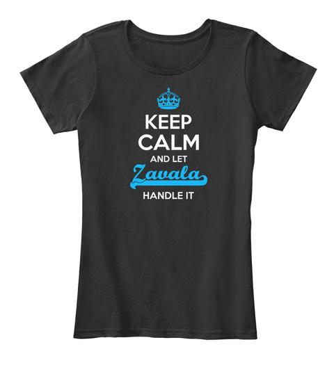 Zavala Keep Calm! Black T-Shirt Front