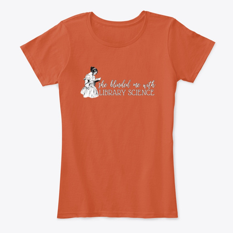 Library Science Deep Orange T-Shirt Front