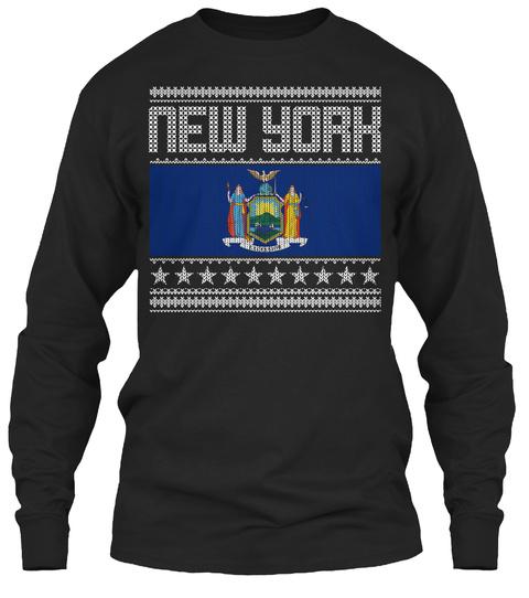 New York Black T-Shirt Front