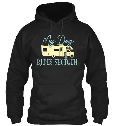 German Shorthaired Pointer Dog Rv Shirt  Black T-Shirt Front