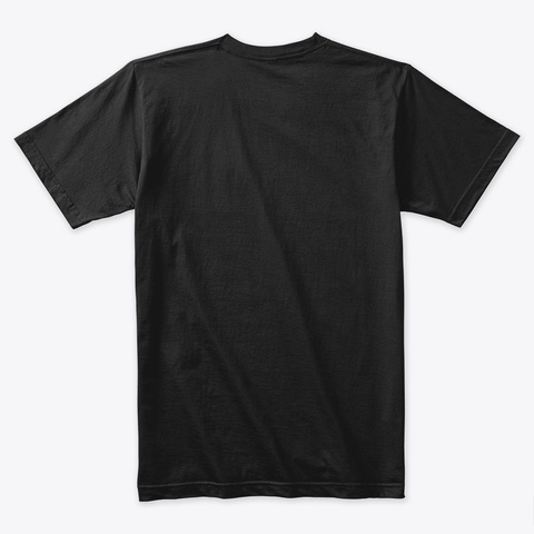 Premium Tee #1 Black T-Shirt Back