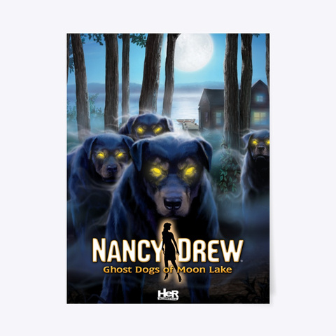 Nancy Drew: Ghost Dogs Of Moon Lake Standard T-Shirt Front