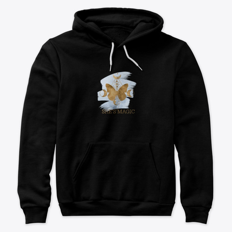 She's Magic Hoodie Black T-Shirt Front