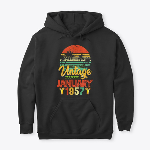 Vintage January 1957 Birthday Gift LongSleeve Tee