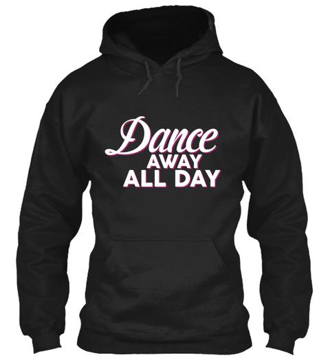 Ballet Ballerina Dancing Cute Tee Black T-Shirt Front