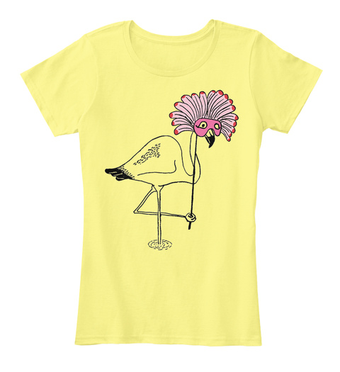 Over The Top Lemon Yellow T-Shirt Front