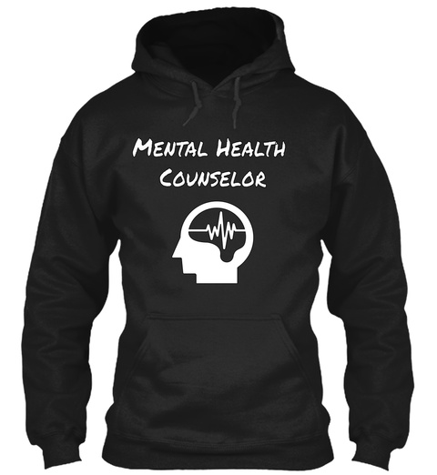Mental Health  Counselor Black T-Shirt Front