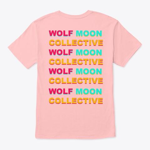 Wolf Moon Block Pale Pink T-Shirt Back