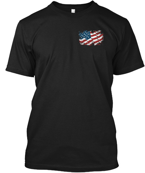 1 800 Leave The Usa Black T-Shirt Front