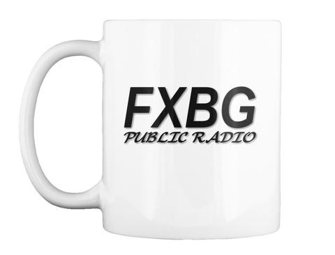 Fxbg Public Radio White Mug Front
