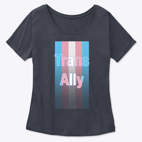 Ally Flag Midnight T-Shirt Front