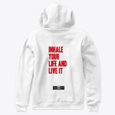 "Iylali Hoodie ""Lag"" White T-Shirt Back"